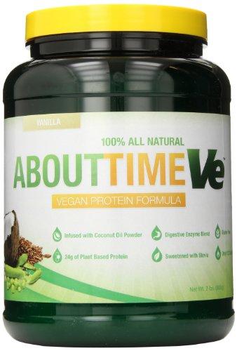 Sobre tiempo de suplemento de proteína vegana, vainilla, 2 libras