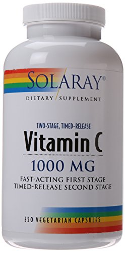 Solaray C Two-Stage Timed Release suplemento, 1000mg, 250 cuenta