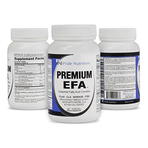 #1 pescado eructos aceite Omega 3 6 9 EPT con EPA DHA CLA GLA lino y borraja - más que pescado aceite Premium EFA 60 píldoras esenciales los ácidos grasos suplemento para pérdida de peso salud del corazón y alivio de la articulación