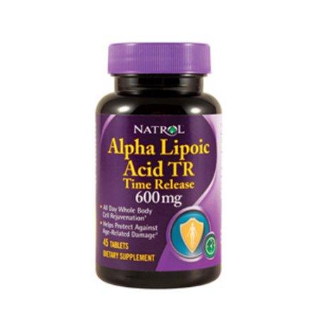 Natrol alfa lipoico Ácido Tiempo de lanzamiento 600 mg tabletas de suplementos alimenticios - 45 Ea 3 Pack