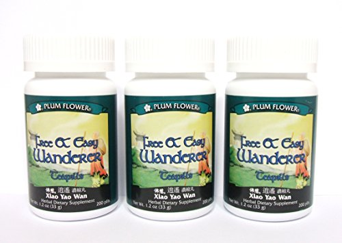 3 pack de Wanderer libre y fácil Teapills, Xiao Yao Wan, 3 x 200 pídoras