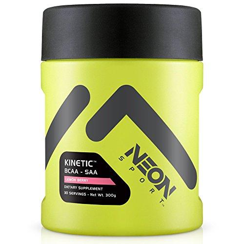 Neon Sport Kinitic Bcaa y Saa aminoácidos suplemento, limón Berry, cuenta 30