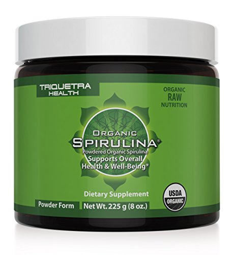 Polvo de espirulina orgánica: Fuente más pura de espirulina orgánica - 4 certificaciones orgánicas: certificado orgánico por la USDA, Ecocert, Naturland y OCIA - máxima densidad de nutrientes y la biodisponibilidad