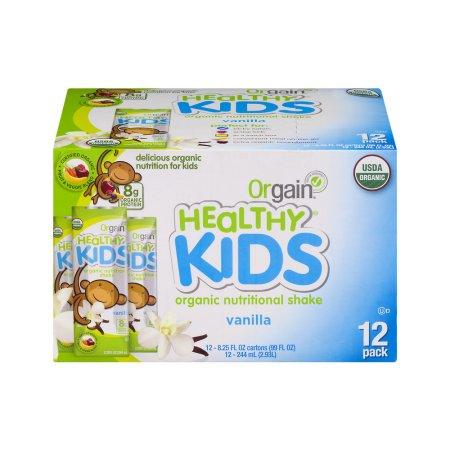Healthy Kids Orgánica Nutritional Shake Vainilla - 12 PK 8.25 onzas líquidas