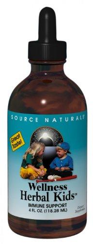 Source Naturals bienestar niños hierbas líquido, 4 onzas