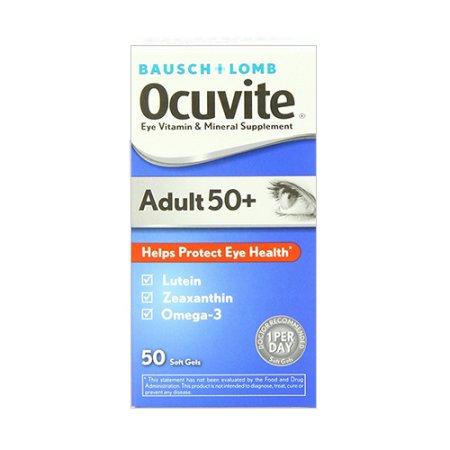 Ocuvite Adultos 50 Plus Eye suplemento vitamínico y mineral geles suaves - 50 Ea