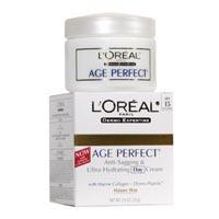Flacidez Loreal Age Perfect anti y Ultra Crema de Día Hidratante Con Dermo Expertise SPF 15 - 2.5 oz, paquete de 2