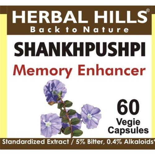Shankhpushpi cápsulas: India ayurvédica hierbas, 60 Caps V, 240mg, potenciador de memoria tónico cerebral, ayuda para el sueño, alivio del estrés y la ansiedad, eficaz para el sistema nervioso.