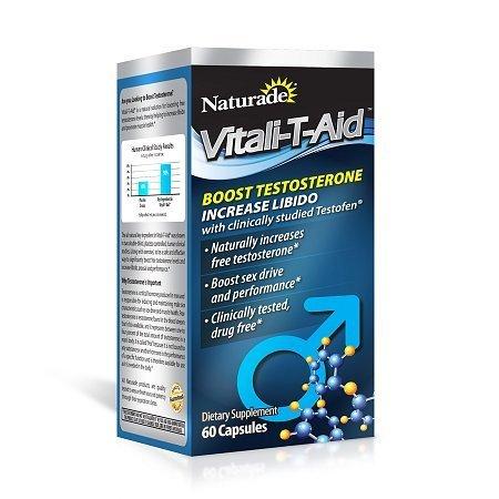 Naturade Vitali-T-Aid testosterona Booster Suplemento dietético de la cápsula 60 Cada (paquete de 3)