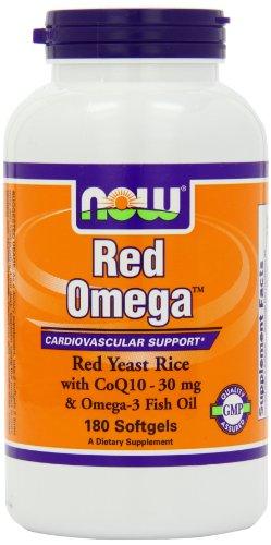 Ahora alimentos Omega rojo Soft-Gel, 180-Conde