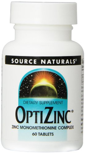 Source Naturals Monometionina de Zinc Optizinc 30mg, 60 comprimidos
