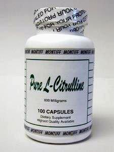 Montiff - pura L-citrulina 600 mg 100 caps [salud y belleza]