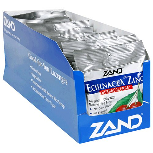 Pastillas de Herbalozenge ZAND, Echinacea Zinc, sabor a cereza, 12-15 bolsas de losanje (180 pastillas)