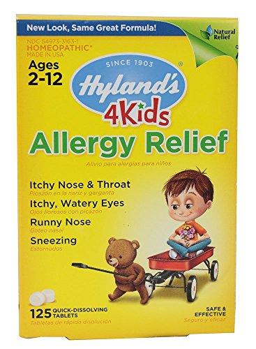 Alergia alivio 4 niños rápida de Hyland's disolver Tabs, ct 125