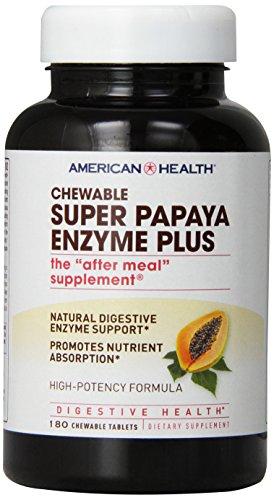 Enzima de probióticos salud Plus, Super Papaya, cuenta 180