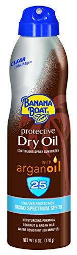 Banana Boat protector solar niebla Ultra protector bronceado aceite seco amplio espectro solar Spray protector solar - SPF 25, 6 onzas (Pack de 3)
