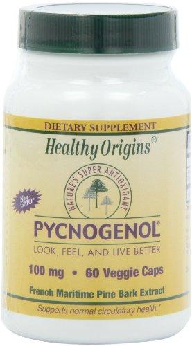 Inició sanos Pycnogenol vegetarianos cápsulas, 100 mg, 60 Count