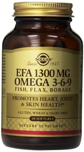 Solgar EFA Omega 3-6-9 suplemento, mg 1300, cuenta 60