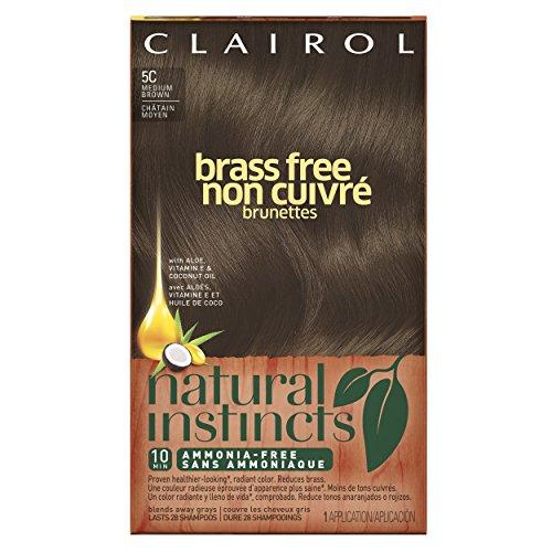 Clairol Natural instintos latón C 5 libre medio marrón Kit (paquete de 3)