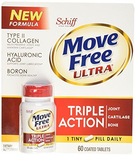 Schiff Move gratis Ultra tipo II colágeno ácido hialurónico boro callos acción tabletas (60 ct)