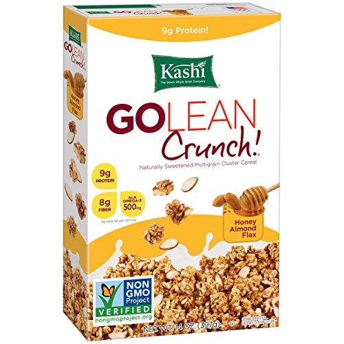 Kashi GOLEAN Crunch! Cereales, miel almendra cajas de lino, de 14 onzas (paquete de 4)