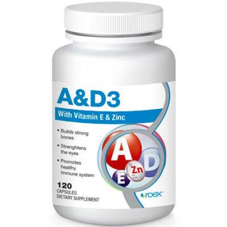 Vitamina A y D3 Fórmula con Vitamina E 120 caps por Roex
