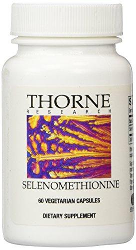 Thorne Research selenometionina, 60 cápsulas vegetarianas