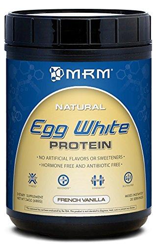 MRM toda proteína de clara de huevo Natural, onzas 24 vainilla francesa