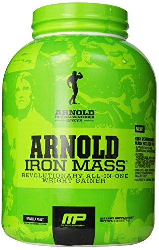 Músculo Pharm Arnold Schwarzenegger serie hierro masa peso Gainer, Malta vainilla, 5 libras