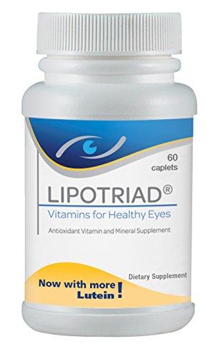 Lipotriad vitaminas para los ojos sanos - antioxidante suplemento multivitamínico y minerales - 60ct