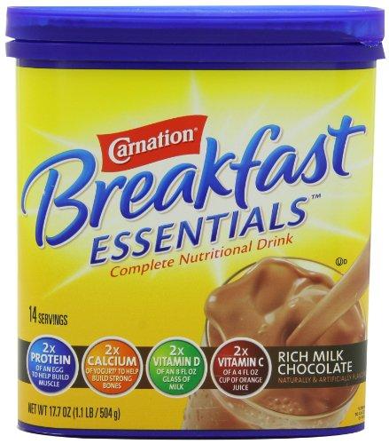 Clavel Breakfast ESSENTIALS Chocolate en polvo, frasco de 17,7 onzas