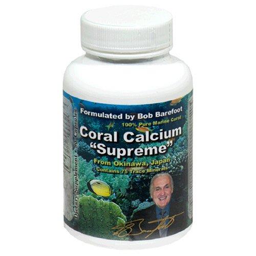 Coral calcio Supremo 1000 mg formulado y respaldado por Bob Barefoot 90 caps nueva fórmula mejorada