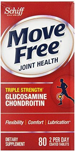 Mover libre suplemento Triple de conjunto fuerza glucosamina condroitina y ácido hialurónico, cuenta 80