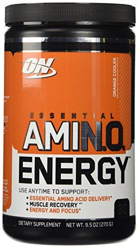 Óptima nutrición - energía Amino esencial - refrigerador de naranja, polvo de 270 g