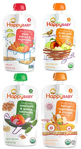 Granos orgánicos de bebé feliz y paquete de la variedad de proteínas etapa 3 de 16
