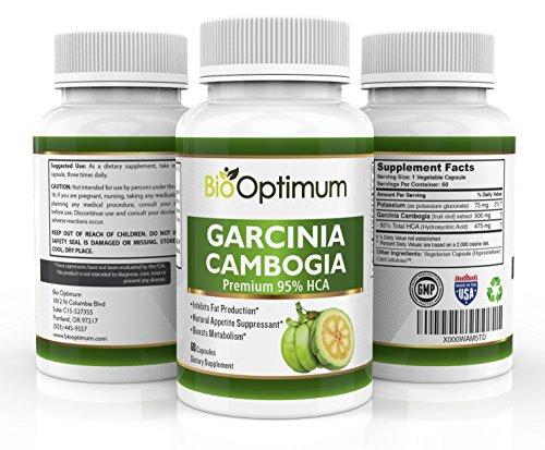 Garcinia Cambogia extracto - Premium HCA supresor del apetito - seguro, suplemento para bajar de peso Natural - inhibe la producción grasa - aumenta metabolismo