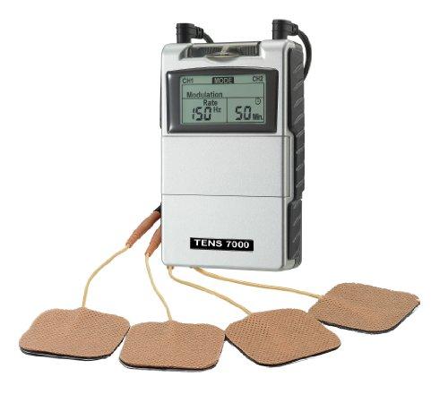 Electroestimulacion muscular estimulador - máquina Tens para el tratamiento del dolor, dolor de espalda y rehabilitación.