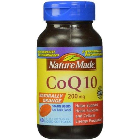 Nature Made CoQ10 Tabletas Liquidas 4 Frascos de 40 Caps cada uno
