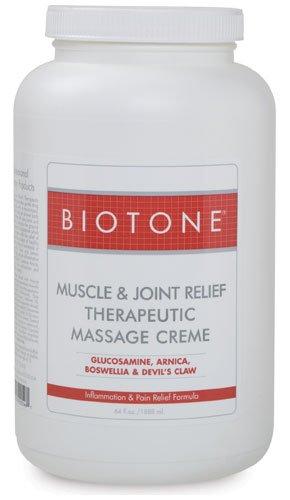 Creme, 64 onzas de masaje muscular Biotone y productos terapéuticos de alivio conjunto