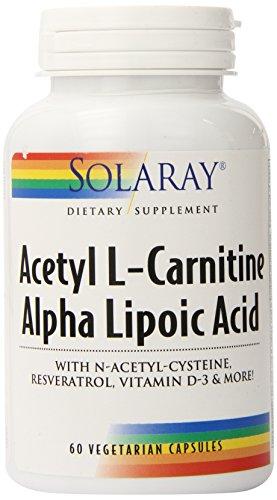 Solaray acetil L-carnitina y Ala suplemento, cuenta 60
