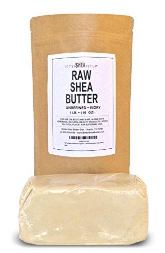 Manteca de karité marfil sin refinar por mejor manteca de karité - mejor clasificado ingrediente para recetas de cuidado de piel DIY - para piel seca o acné-propensa, eccema, estrías, piel de bebé delicada - 1 libra (16 onzas)