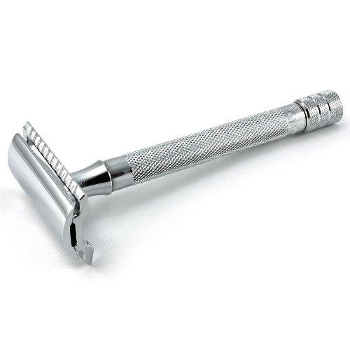 Merkur largo manejado maquinilla de afeitar de seguridad