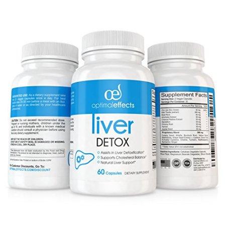 Natural Suplemento Limpieza del Hígado Detox por Optimal Effects - mejorar la digestión saludable Liver Support - Todos Fórmu