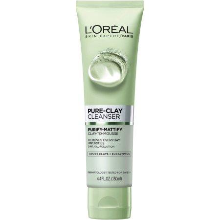 L'Oreal Paris piel Experto Purificar-Mattify Pure-Clay Cleanser 44 fl oz