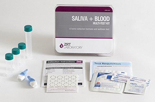 12 la hormona completa hombre perfil I Kit de prueba casera (Saliva: E2, T, DS, Cx4; Sangre: PSA, TSH, fT3, fT4, TPO)-funcionario de revisión médica (MRO) incluye resultados & prepago muestra volver envío