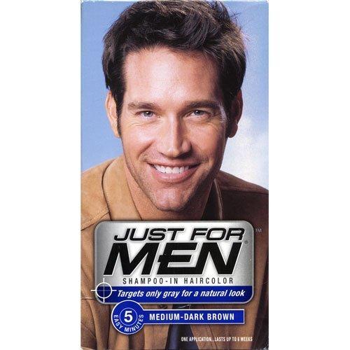 Solo para hombres en champú tinte medio oscuro marrón H-40 (paquete de 6)
