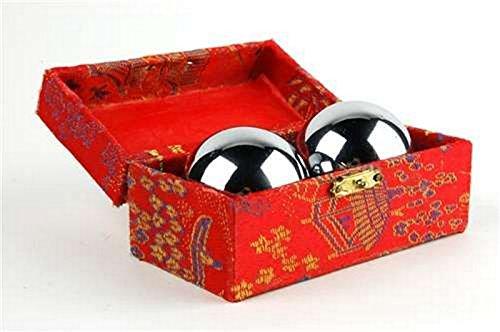 Baoding bolas chinas salud ejercicio estrés bolas cromo Color
