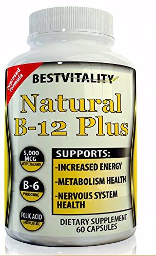 Sistema nervioso sano natural vitamina B Complex(60-Vegetarian). Impulso memoria alerta, tratar la deficiencia de B-12, reduce la fatiga. Mejora el pensamiento aumenta metabolismo y energía (B6 B12 y ácido fólico)