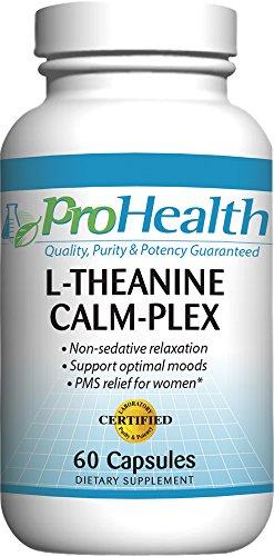 L-teanina calma-Plex GABA y 5-HTP (Suntheanine ®) (100 mg, 60 cápsulas medianas)