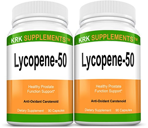2 botellas de licopeno 50mg 180 cápsulas Total KRK suplementos